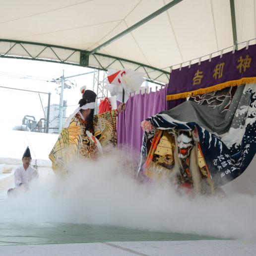 広島のお花見の名所として知られる住吉堤防。広島のローカルなイベントも楽しい。