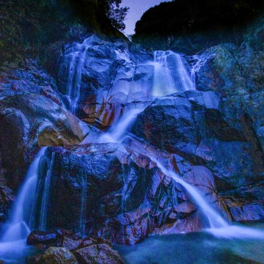 Beautiful waterfalls near from Hiroshima city.