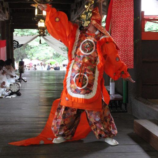 A histrical photogenic event in Hiroshima is held near Miyajima, Hiroshima.