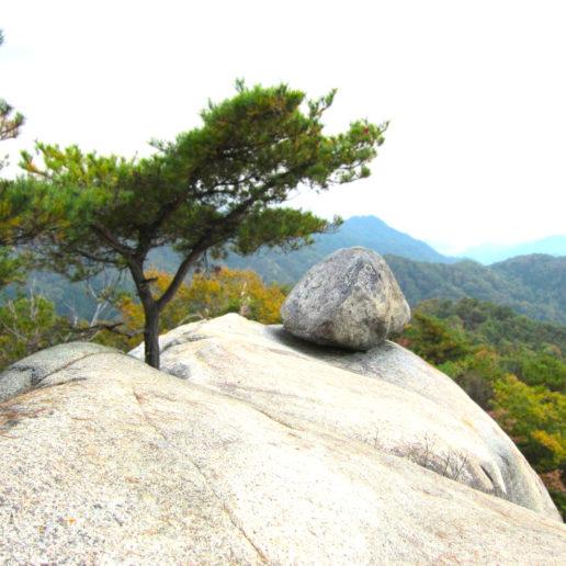 広島市内から近い不思議スポット 大野権現山おむすび岩