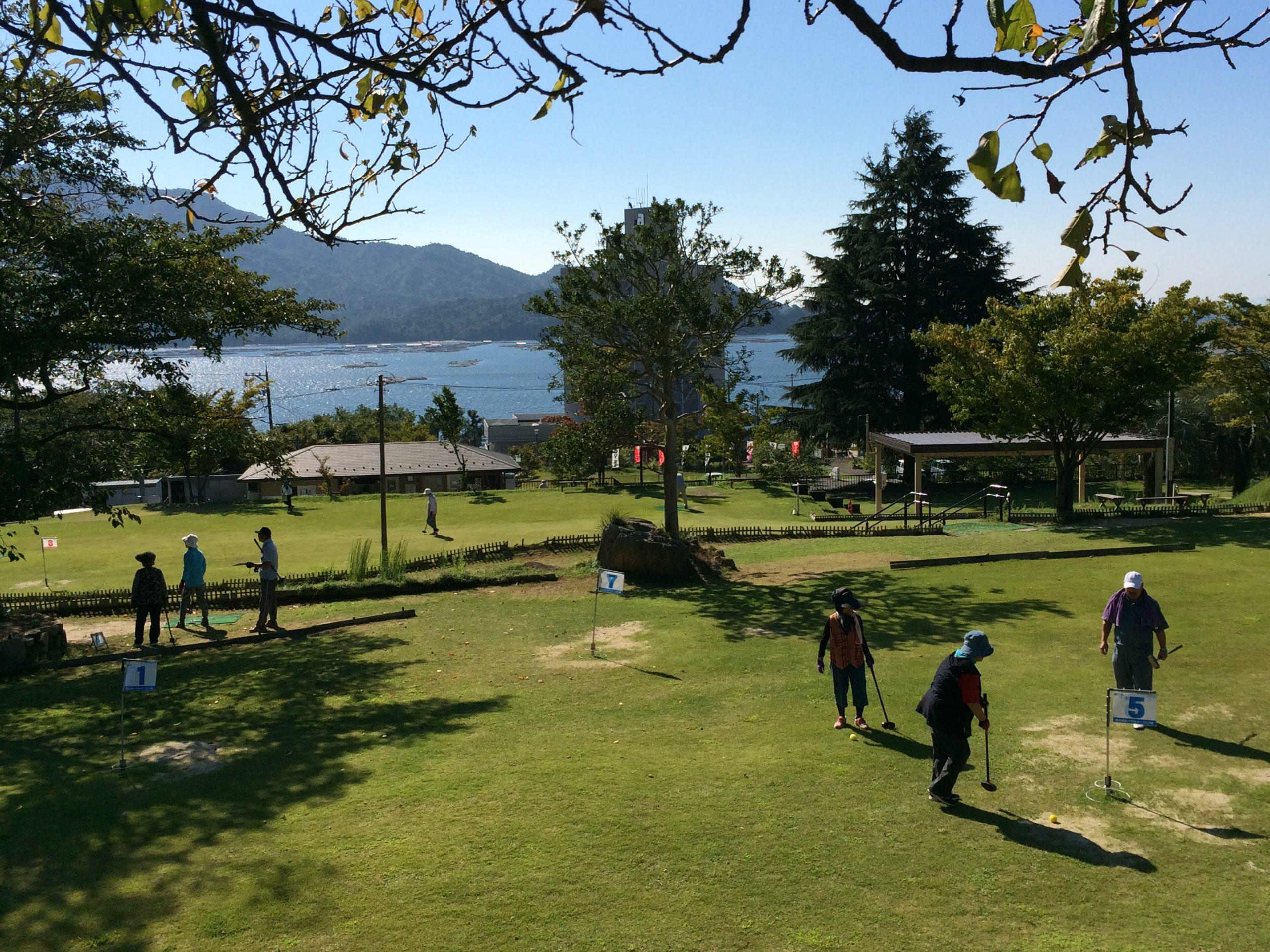 大野瀬戸を望む宮浜温泉グラウンドゴルフ場