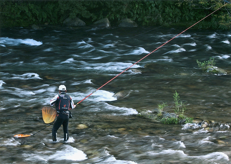 吉和は広島県有数の渓流釣りの名所