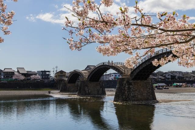 廿日市からほど近い山口県岩国市の観光地、錦帯橋